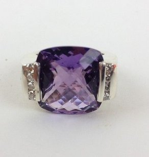 David Yurman David Yurman Amethyst Cushion Cut Diamond Ring Max054420