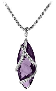 David Yurman David Yurman Cable Wrap Pendant with Amethyst and Diamonds