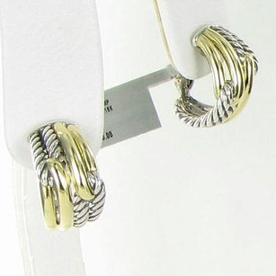 David Yurman David Yurman Earrings Labyrinth Double Loop Shrimp Huggie 18k Gold 925