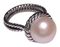David Yurman David Yurman Sterling Silver Cable Pearl Ring US Size: 6.5