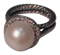 David Yurman David Yurman Sterling Silver Pearl Diamond Ring US Size: 6