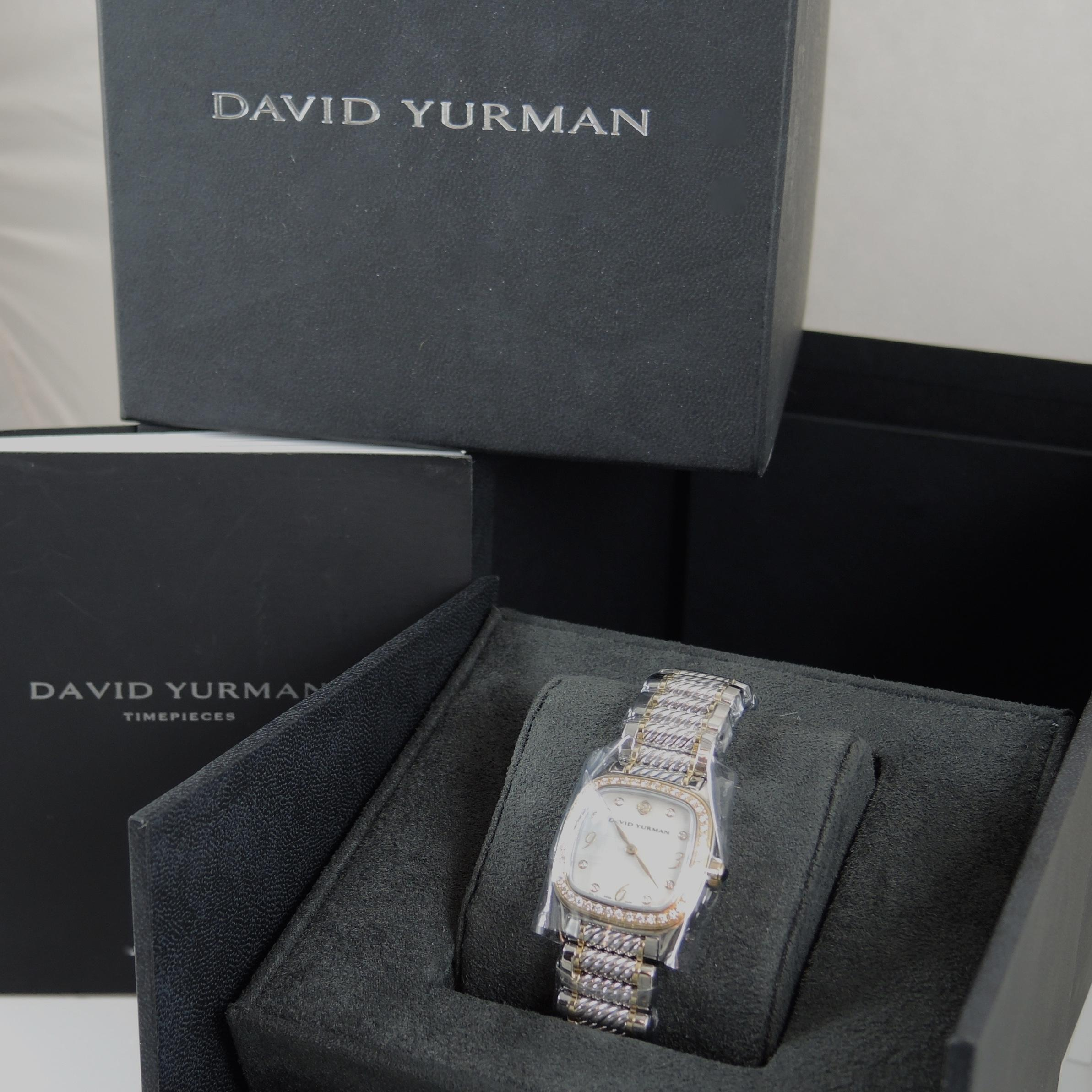 david yurman david yurman 54tcw 25mm stainless steel and 18k yellow gold mother of