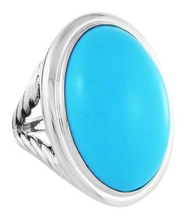 David Yurman Oval Ring with Turquoise