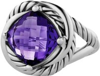 David Yurman David Yurman Infinity 925 St Silver/ Purple Amethyst Ring