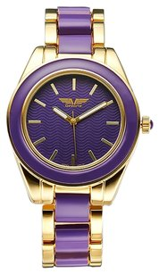 Deporte Kemora Elegant Deporte Kemora Purple/Gold Watch