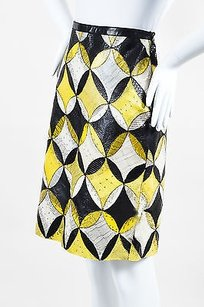 Derek Lam Yellow White Black Skirt Multi-Color