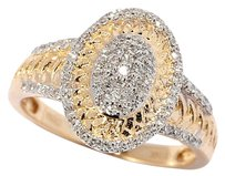 Diamond Treasures By Chuck Clemency 14K Yellow Gold 0.35ctw Diamonds Ring Sz7 by Diamond Treasures