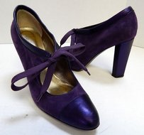 Diane von Furstenberg Italy Purple Pumps