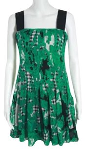 Diane von Furstenberg short dress Green Black White on Tradesy