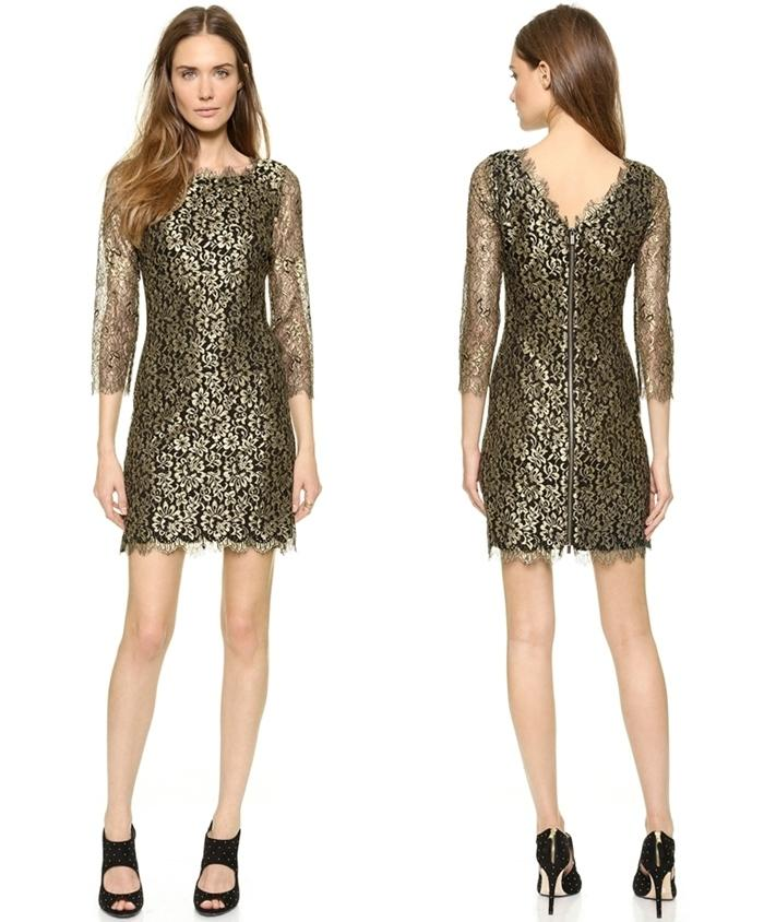 DVF Gold Dress