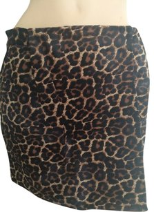 Diane von Furstenberg Mini Skirt Brown Black.
