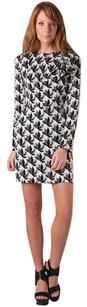 Diane von Furstenberg short dress Grey, Black, Teal, Brown Print Longsleeve Silk on Tradesy