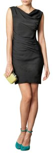 Diane von Furstenberg Silk Cowl Neck Shift Sheath Dress