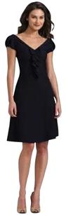 Diane von Furstenberg Silk Ruffle Fit & Flare Poplin Dress