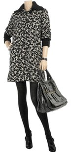 Diane von Furstenberg Wool Silk Knit Luxury Swing Pea Coat