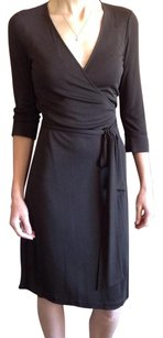 Diane von Furstenberg Wrap Classic Tie Waist Office V-neck Dress