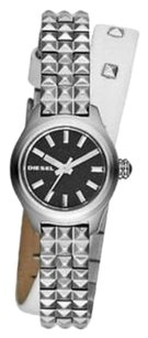 Diesel DZ5447 Women's Kray Kray Mini Sparkle Dial SS White Leather Watch