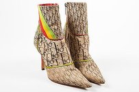 Dior Tan Red Green Yellow Multi-Color Boots