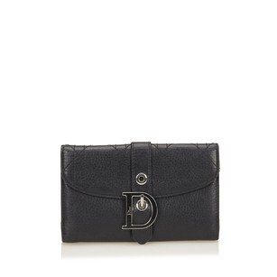 Dior Black,leather,long Wallets,others,6bdrco003