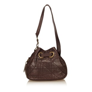 Dior Brown Leather Others Shoulder Bag