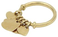 Dior Christian Dior 18k Yellow Gold Heart Pendant Ring 53