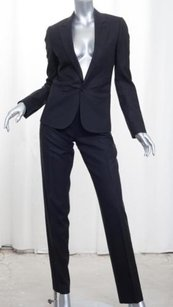 Dior Christian Dior Womens Black Wool Single-button Jacket Blazer Pant Suit 40us