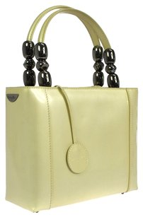 Dior Christian Patent Leather Satchel in Ivory