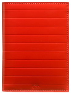 Dior * Dior Homme Pleated Patent Leather Red Wallet
