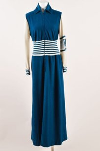 Blue Maxi Dress by Dior Vintage Christian Teal