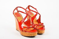 Dior Christian Patent Red Sandals
