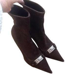 Dior Pointed Toe Heeled Brown Boots