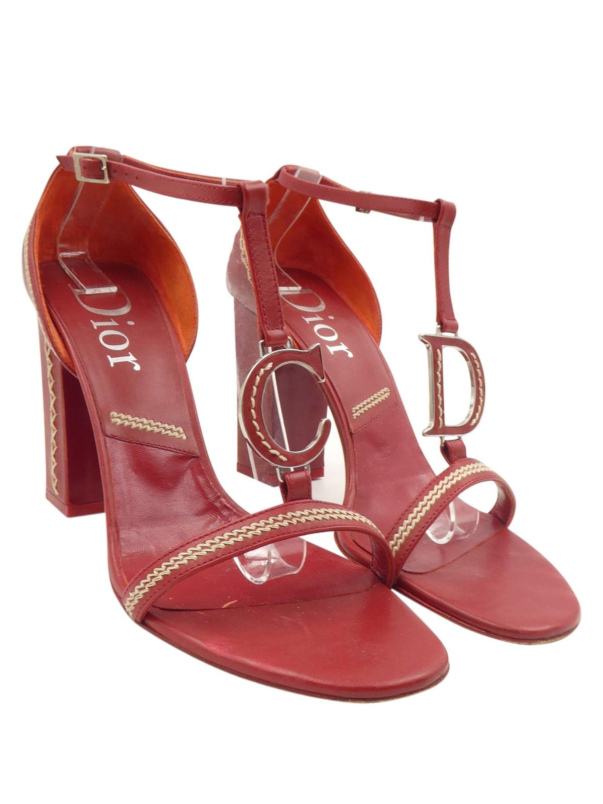 Christian Dior Logo T-Strap Sandals latest collections cheap online cheap sale big sale SaKn5KyziI