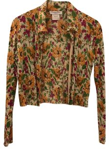 Dior Top Yellow with flower print Cardigan and