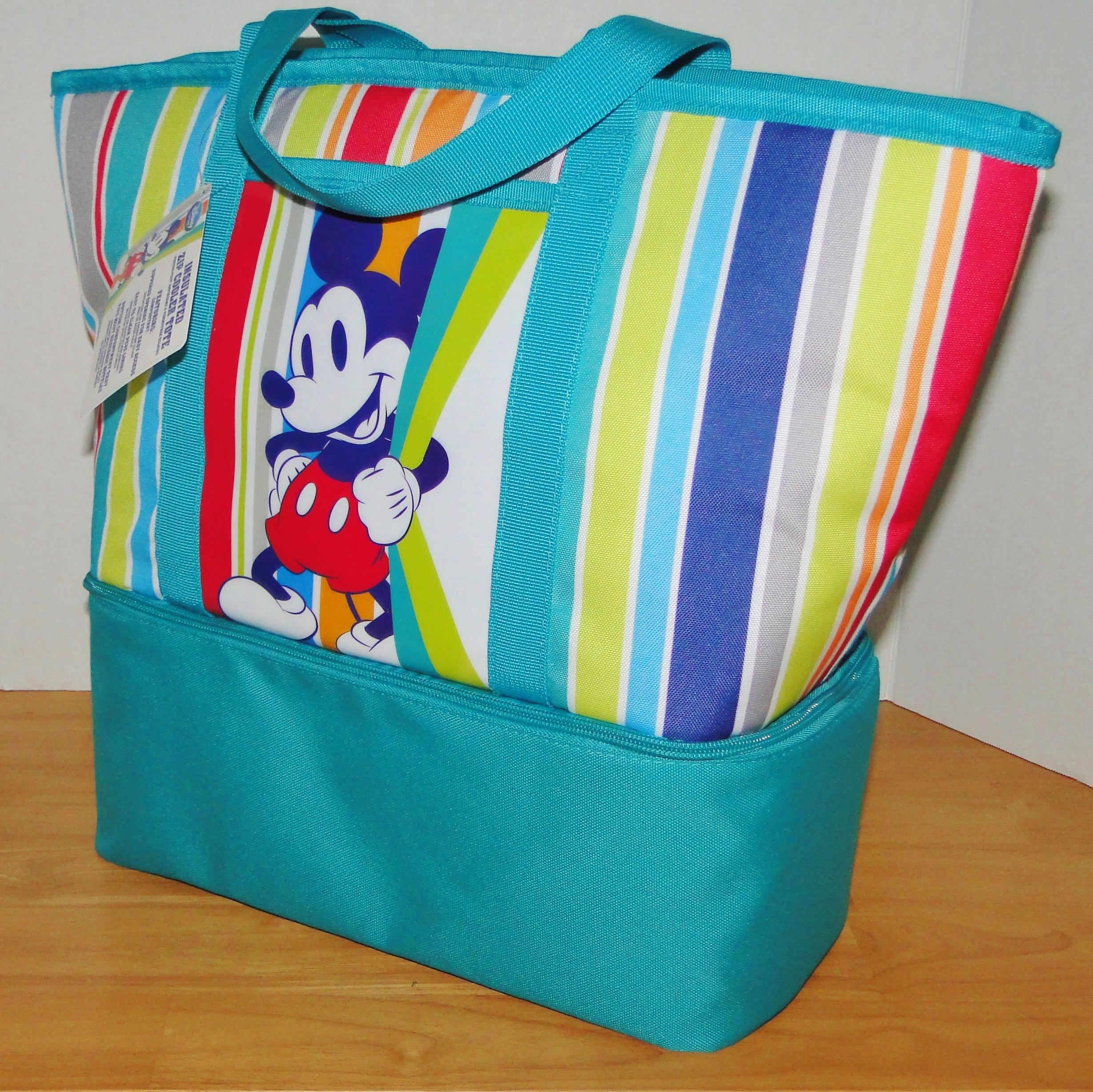 Disney Mouse Insulated Beach Tote Multi Color Beach Bag | Beach ...