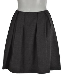 DKNY Womens Speckled A Line Textured Above Knee Career Wtw Skirt Gray
