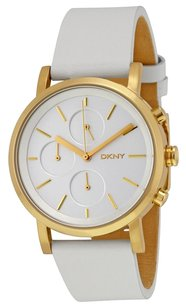 DKNY DKNY Soho Chronograph White Leather Strap Ladies Watch NY2337