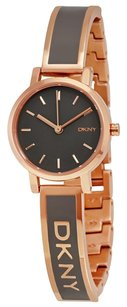 DKNY DKNY Soho Grey Dial Rose Gold-tone Half-Bangle Bracelet Ladies Watch NY2359