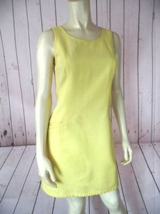 DKNY short dress Yellow Jean Sleeveless Retro on Tradesy