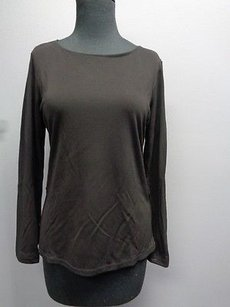 DKNY Long Sleeved Round Neck Top Black
