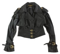 Dolce&Gabbana 44 Black Cool Cropped Tin Coat