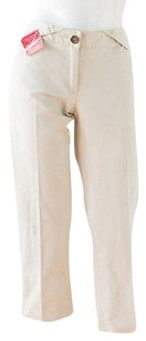 Dolce&Gabbana Dolce Gabbana Cotton Capri/Cropped Pants tan