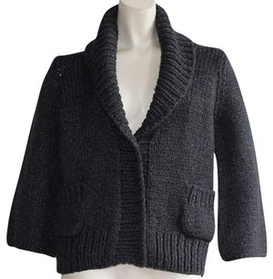 Dolce&Gabbana Knitted Ribbed Collar Cardigan Perfect Sweater