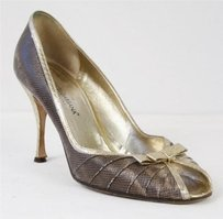 Dolce&Gabbana Dolcegabbana Womens Gold Bow Multi-Color Pumps