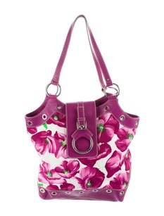 Dolce&Gabbana Dolce & Gabbana Floral Print Poppies Leather Shoulder Bag