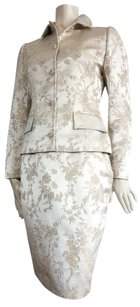 Dolce&Gabbana DOLCE & GABBANA Satin floral brocade evening skirt suit IT 42 US 6