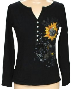 Dolce&Gabbana Embellished Ribbon Accented Top Black
