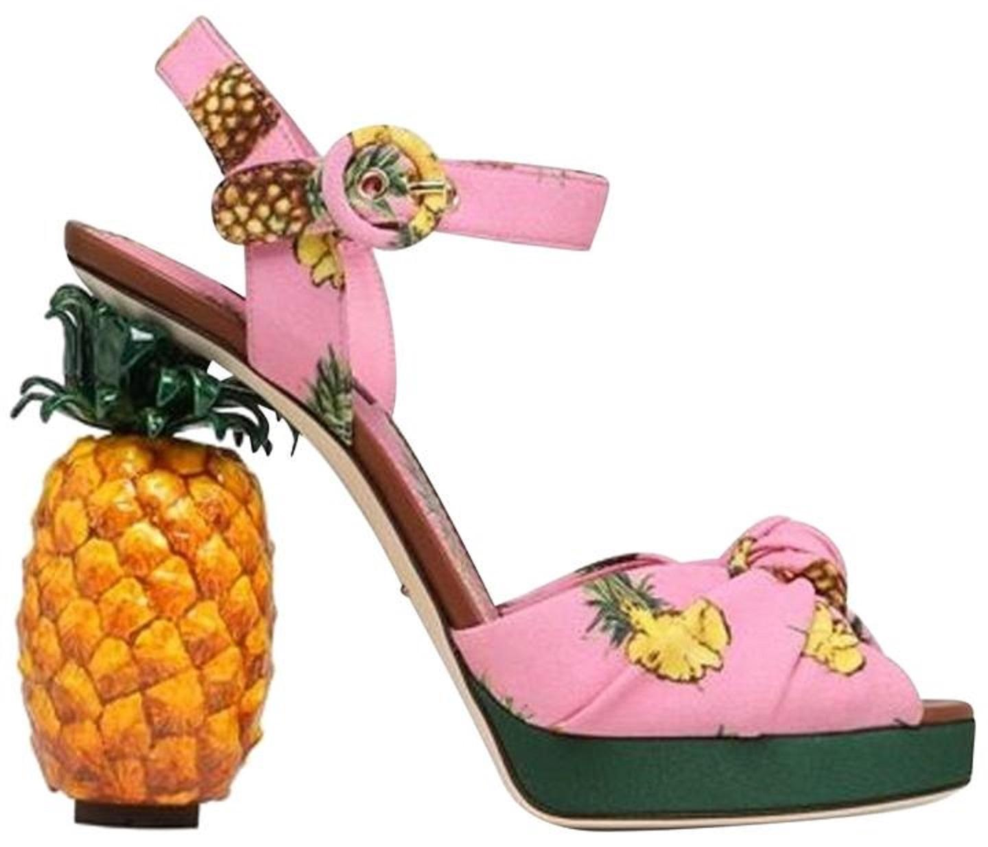 c008240fe8a Dolce Gabbana New Keira Pineapple Cady Sandals Size EU 38 38 38 (Approx. US  8