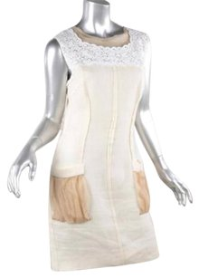 Dolce&Gabbana short dress Ivory Womens Lace Open Back Sleeveless Shift 44us on Tradesy