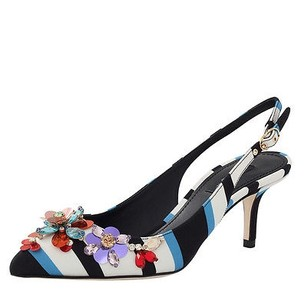 Dolce&Gabbana Dolce Gabbana Multicolor Black and blues Pumps