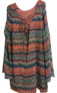 Dolce Vita short dress Coral Red Blue Green on Tradesy